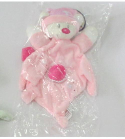 Grabulis mīkstais mīļlupatiņa Lācis rozā krasā 30 cm 149954-3