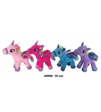 Plīša zirgs vienradzis 19 cm (J0098) dažādās 150622