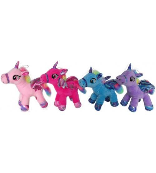 Plīša zirgs vienradzis 27 cm (J0099) dažādās 150639