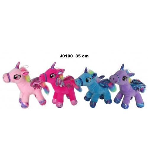 Plīša zirgs vienradzis 35 cm (J0100) dažādās 150646