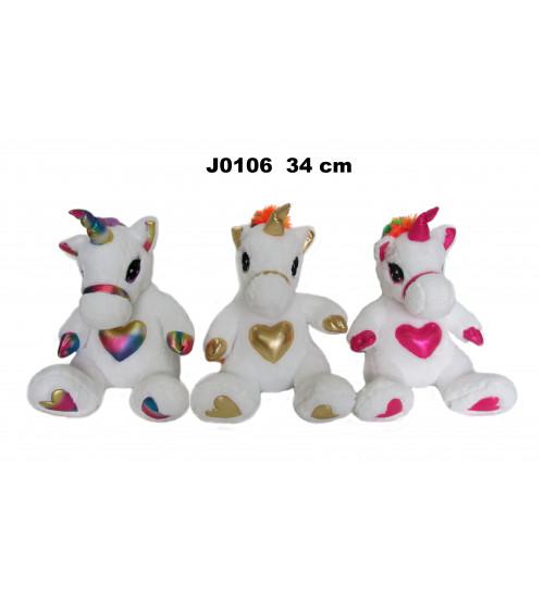 Plīša zirgs vienradzis 44 cm (J0106) dažādās 152367