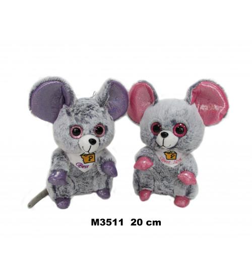 Plīša pele 20 cm ( M3511) dažādas 152459
