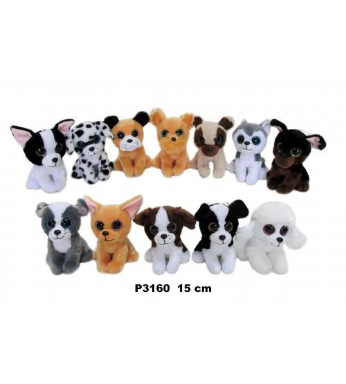 Plīša suns 15 cm (P3160) dažadās 152541