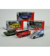 Metāla auto modelis mazs 7 cm Streetmachine 050952 dažādas ( kastē )