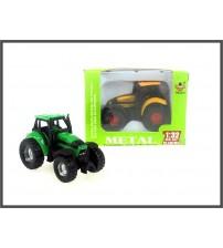 Metāla traktora modelis mazs 6.5 cm 144514 dažādas ( kastē )