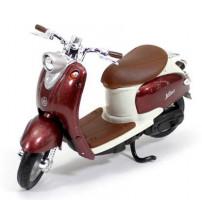 Metāla motocikls Welly 99 YAMAHA VINO YJ50R 1:18 kastē 19660PW-YAMAHA