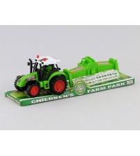 Traktors plastmasas 29 cm dažādas 201347