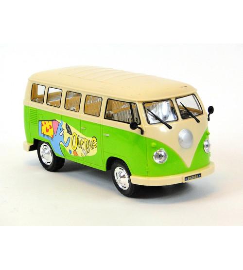 Autobus ar skaņu un gaismu (5 ritenis) zaļš/sarkans 24 cm 213067