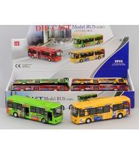 Autobuss metāla ar skaņu un gaismu 17 cm dažādas 417342