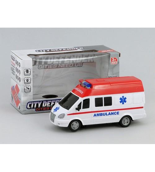 Mašīna ātras palīdzības Ambulance ar skaņu 20x14x12 cm 422858