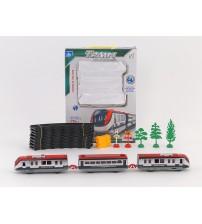 Dzelzceļš ar pasažieru vilcienu un vagoniem 176 cm 461093