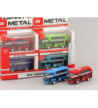 Metāla auto modelis autobuss 9 cm 463349 dažādas krāsas