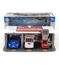 Auto garāža ar 3 mašīnām (skaņa, gaisma) 37.5x21x18 cm 481572