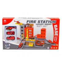 Autostāvvieta Fire ugunsdzēsēju temātikā metāla 2 mašīnas un helikopters 511088
