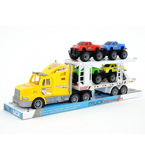 Mašīna treilers ar 3 džipiem 40 cm (inercija) 517202