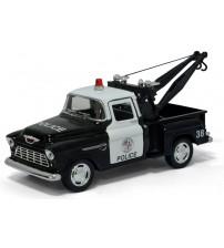 Metāla mašīnas modelis 1955 Chevy Srepside Pick-up (Police) 1:32 KT5330P