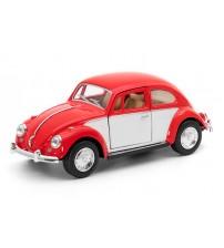 Metāla mašīnas modelis 1967 Volkswagen Classical Beetle (Color Door) 1:32 KT5373