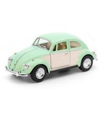 Metāla mašīnas modelis 1967 Volkswagen Classical Beetle (Ivory Door)1:32 KT5375Y