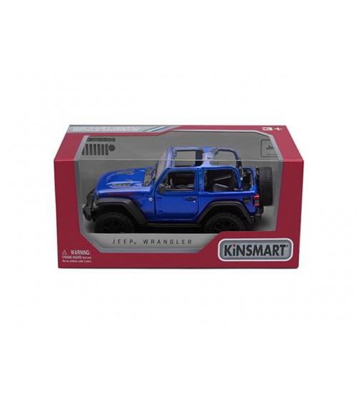 Metāla mašīnas modelis 2018 Jeep Wrangler (Open Top) kastē 1:34 KT412WA