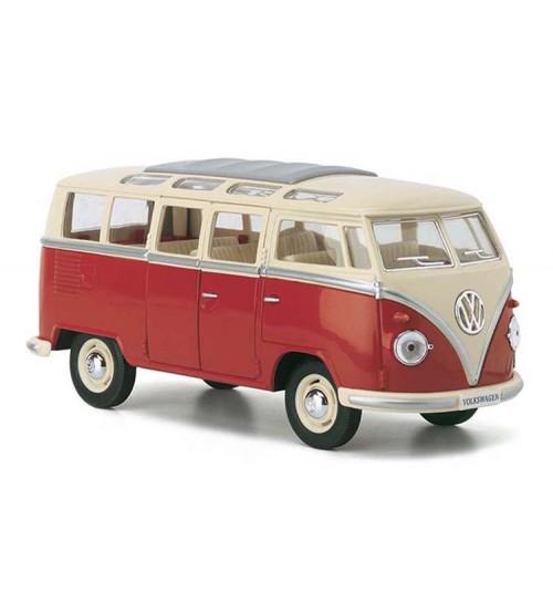 Metāla mašīnas modelis 1962 Volkswagen Classical Bus 1:24 KT7005