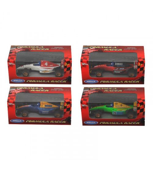 Metāla mašīna Formula Racer Welly dažādas 13cm  99910CW