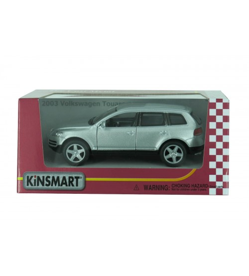 Metāla auto modelis 2003 Volkswagen Touareg 1:38 kastē KT5078W