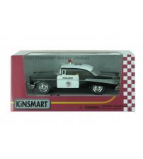 Metāla auto modelis  1957 Chevrolet Bel Air (Police) 1:40 kastē KT5323W