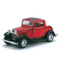 Metāla auto modelis 1932 Ford 3-Window Coupe 1:34