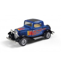 Metāla auto modelis 1932 Ford 3-Window Coupe with printing 1:34 kastē KT5332WF