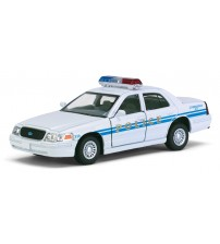 Metāla auto modelis Ford Crown Victoria Police Interceptor (White) 1:42 KT5342