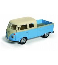 Metāla auto modelis 1963 Volkswagen Bus Double Cab Pickup (Pastel Color) 1:34