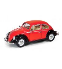 Metāla auto modelis 1967 Volkswagen Classical Beetle (Black Fender) 1:24 KT7002E