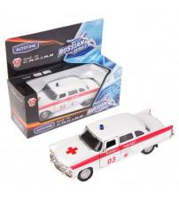 Metāla auto modelis Čaika GAZ 13 Ambulance 1:43 kastē AG11471W