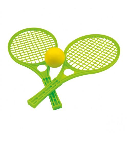 Tenisa komplekts plastm.raketes ar mīkstu bumbiņu 42 cm 5055 dažādas krāsas