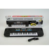 Bērnu sintezators  MS-008 37 taustiņi ar mikrof. (baterijas) 48 см 173996