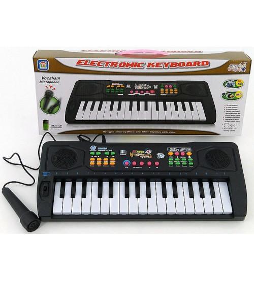 Bērnu sintezators 32 mini taustiņi ar USB MP3, mikrof. (baterijas) 35 см 402034