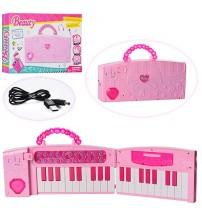 Bērnu sintezators  divdaļīgs (USB kabelis vai baterijas) 37 mini taustiņi 427167
