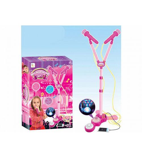 Bērnu karaoke komplets (2 mikrofoni, MP3, gaisma, muzika) 479883