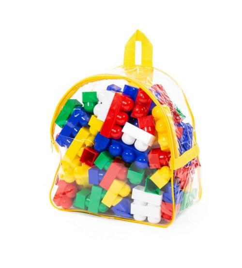 """Celtniecības komplekts """"Junior"""" (100 elementi) (mugursomā) 30x20x30 cm PL3321"""