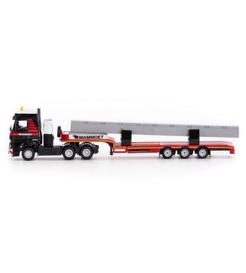 Metāla auto modelis MAMMOET TOYS Vilcējs MB Actros Bigspace 6x4 1:87 25 cm PL71-2029