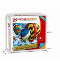 3D Puzle ar gaisa baloniem 8+ 2001b
