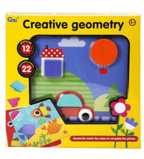 Mozaīka mazuļiem 12 zimējumu / 22 elementi Creative Geometry 25x25 cm 475274