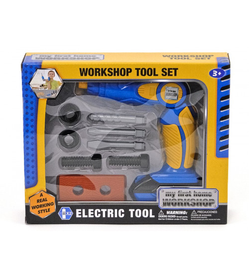 Darbarīku komplekts ar elektr. urbji bērniem 478527
