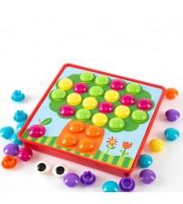 Mozaīka mazuļiem 12 zimējumu / 38 pogas / 7 krāsas 25x25 cm 482128
