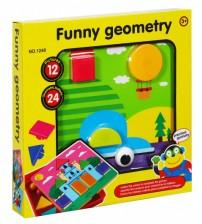 Mozaīka mazuļiem 12 zimējumu / 24 elementi Funny Geometry 25x25 cm 482319