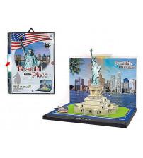 Puzlis 3D ar gaismu Statue of Liberty 23.5x16 cm 492615