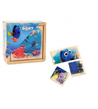 Koka puzzle DORY 4 elementi, 6 zīmējumi 10 m+ 6861DOR