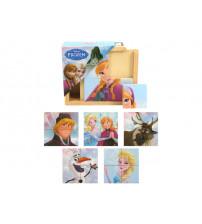 Koka puzzle FROZEN 4 elementi, 6 zīmējumi 10 m+ 6861FRO
