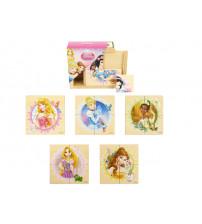 Koka puzzle PRINCESS4 elementi, 6 zīmējumi 10 m+ 6861PRI