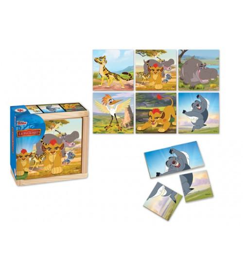 Koka puzzle LION KING 4 elementi, 6 zīmējumi 10 m+ 6861TLG